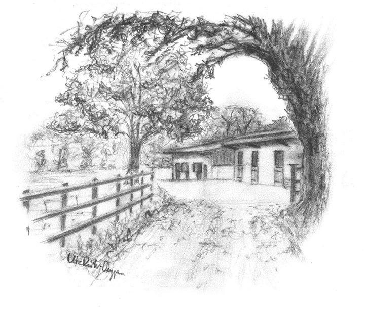 Kylemore Stud Pencil Sketch